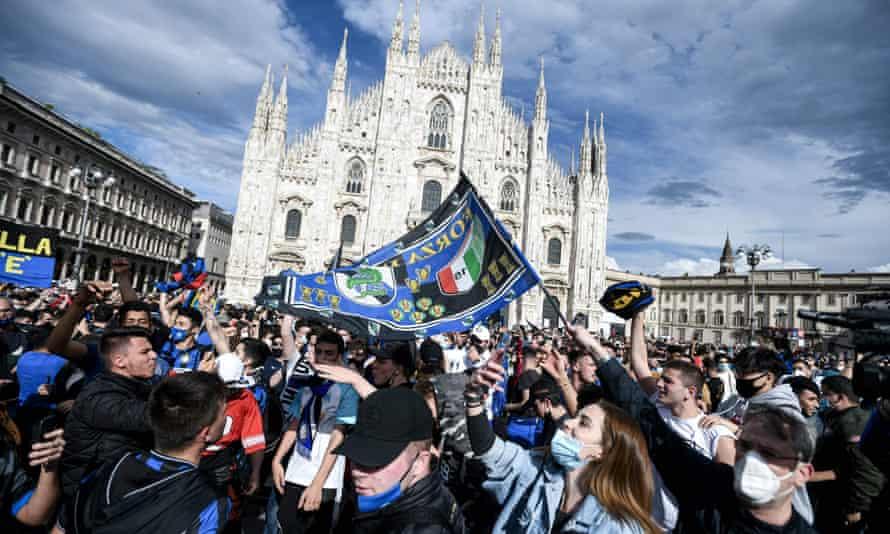 Inter fans, Milan