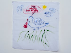 A message/drawing by a detainee on Nauru.