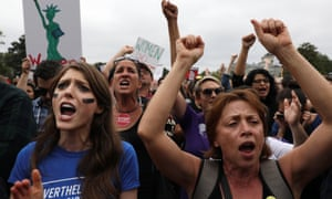 Women protest in Washington. 'I feel enraged – but nothing is irreparable. Women are running for office and protesting in record numbers.'