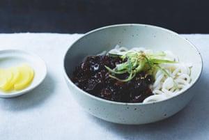 Black bean noodles (jajang-myeon) by Jordan Bourke and Rejina Pyo.