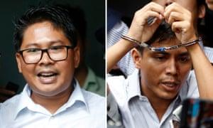 Journalists Wa Lone and Kyaw Soe Oo