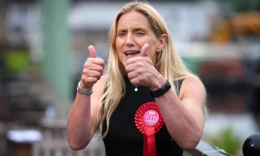 Kim Leadbeater celebrating her win last week.