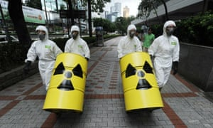 A protest by members of Greenpeace in Hong Kong in 2010 against the Daya Bay plant.