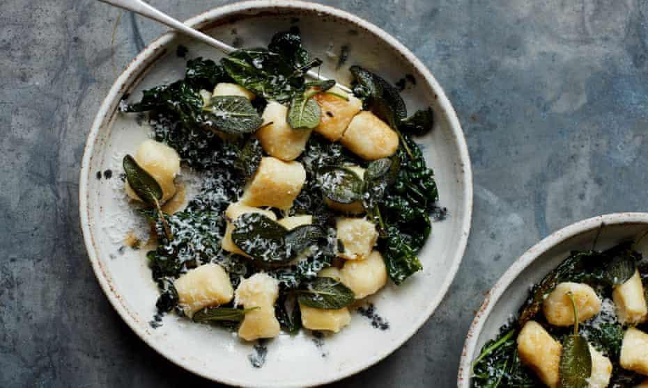 Anna Jones' potato gnocchi with greens and sage. Food and prop styling: Anna Jones. Food assistant: Nena Foster.