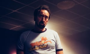 Nicolas Cage in Willy's Wonderland.
