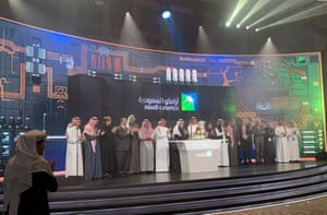 The official ceremony marking the debut of Saudi Aramco's IPO on the Riyadh's stock market