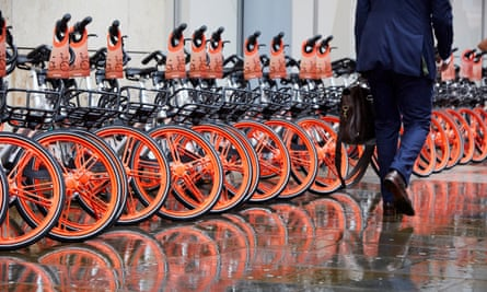 Mobike cycles in Manchester