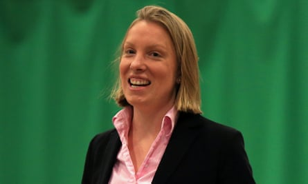 The former sports minister Tracey Crouch