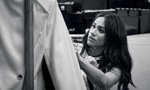 The Duchess of Sussex working on the September issue of Vogue.