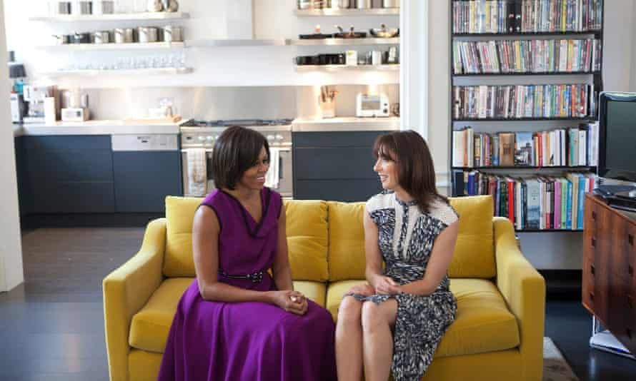 Michelle Obama and Samantha Cameron at the Downing Street private residence during the US President's state visit in 2011.