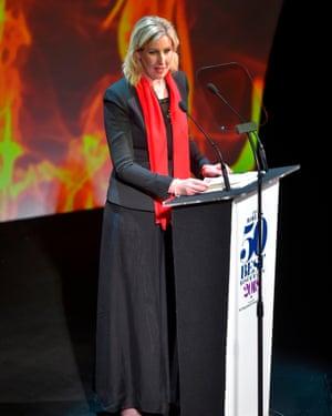 Smyth receiving her award in Bilbao.