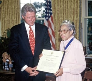Bill Clinton presented Rosa with the Presidential Medal of Freedom in 1996.