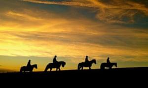 Four people night pony trekking