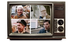 Vintage TV with headshots dropped in