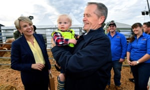 Deputy opposition leader Tanya Plibersek and Labor leader Bill Shorten (right) at the Agfest agricultural show at Carrick, near Launceston in Tasmania