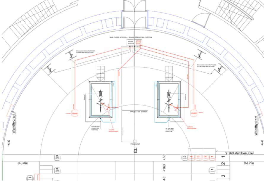 Cable diagram for Atmen (Lungs) by Duncan MacMillan at the Schaubühne