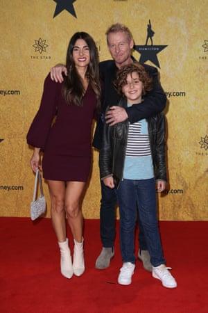 Silvia Colloca and Richard Roxburgh attend the premiere.