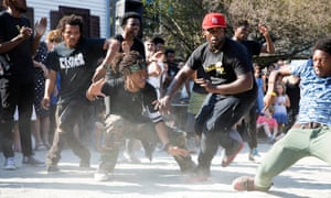 Breakdancers in New York, part of the It's Showtime NYC programme
