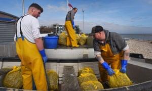 Fshermen in Selsey, west Sussex