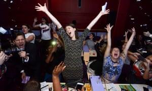 Man Alive … winners go wild at Rebel Bingo.