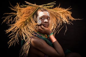 African tribesperson with facepaint