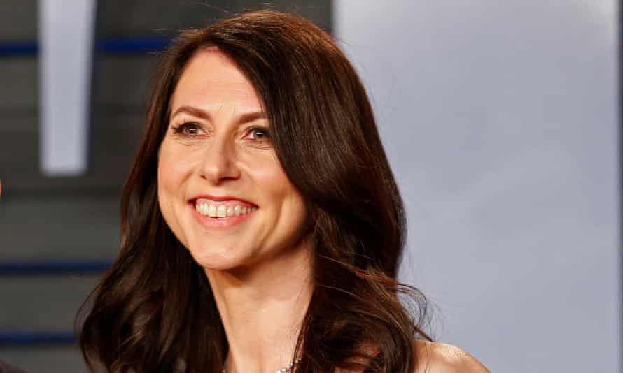 MacKenzie Bezos, above, founder of the anti-bullying group Bystander Revolution, said: 'I have a disproportionate amount of money to share.'