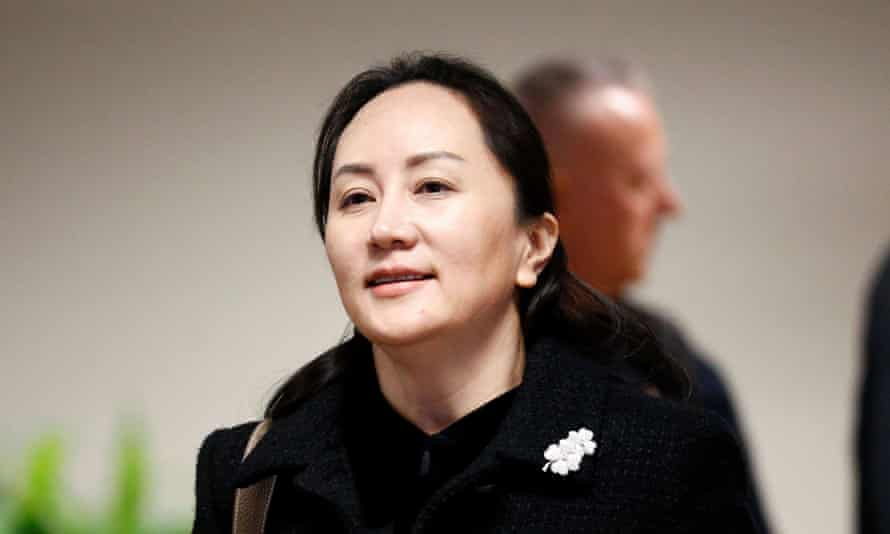 Huawei chief financial officer Meng Wanzhou outside court in Vancouver during the first day of her extradition hearing.