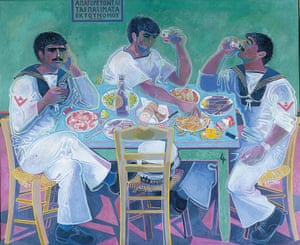 John Craxton's 'Still Life with Three Sailors' reflects his Greek inspirations.