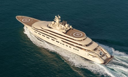 'Rumours of an anti-aircraft defence system are nonsense' … the Dilbar superyacht.