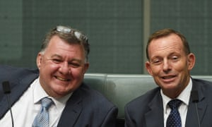 Craig Kelly and Tony Abbott are trying to pull the Liberal party back from the centre to the right.