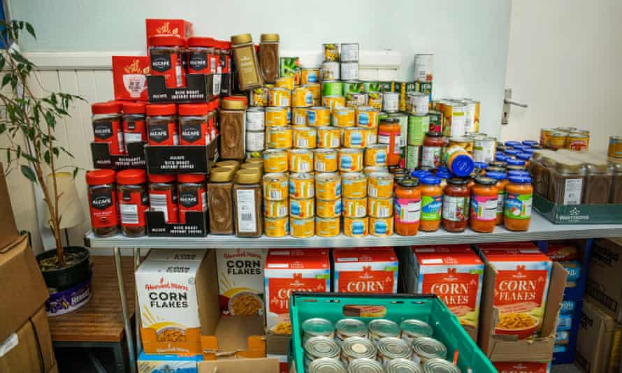 Wesley Hall community centre food bank in Leicester.