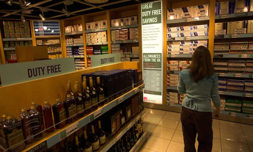 A duty free shop at Manchester airport Terminal 3.