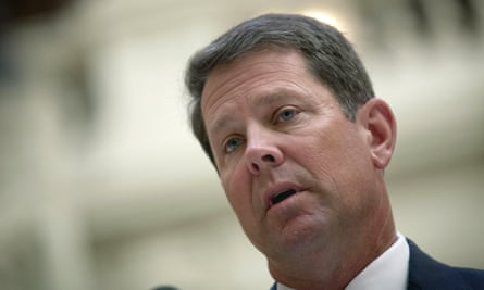 Brian Kemp faces Democrat Stacey Abrams in the midterms. His campaign has said lawsuit claims of voter disenfranchisement are 'utterly false and politically motivated'.