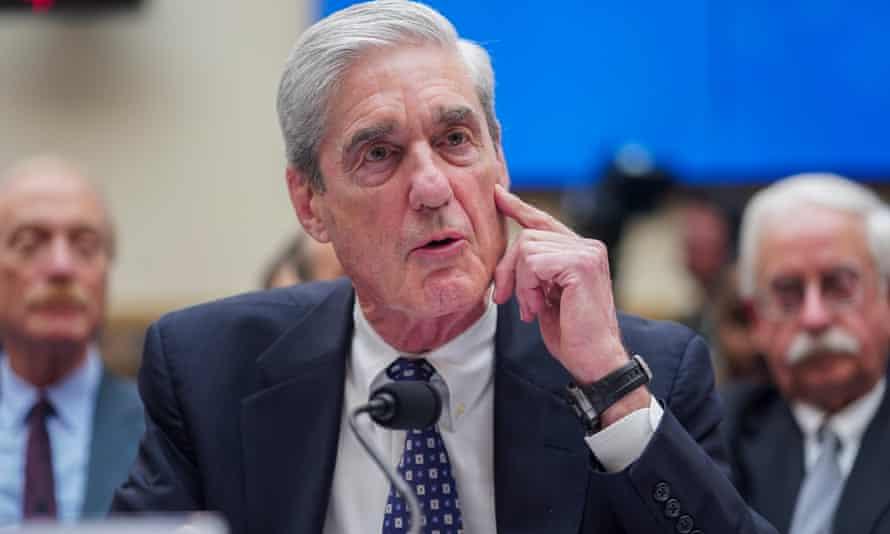 Robert Mueller testifies before the House intelligence committee 24 July 2019.