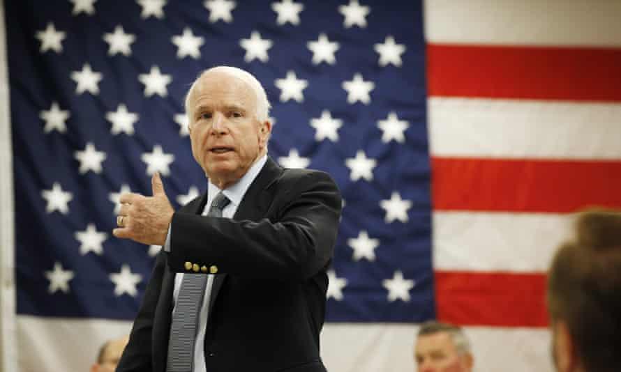 John McCain speaks in Tempe, Arizona