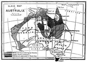 In 1891 a 'Slave Map of Modern Australia' was printed in the British Anti-Slavery Reporter.