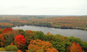 Panoramic view from the lookout tower in Dorset, Ontario