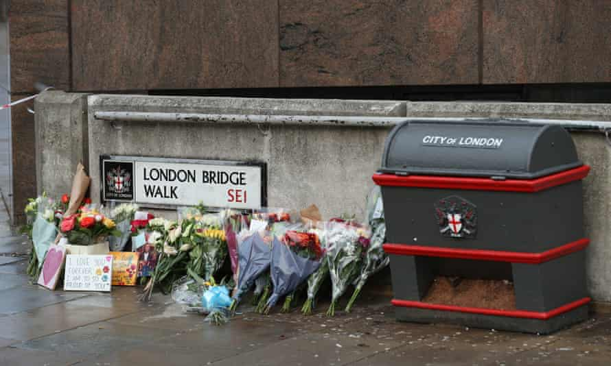 Floral tributes for victims of Friday's London Bridge attack