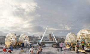 The researchers hope that pop-up pods occupied by community organisations and commercial groups at the Peace Bridge could create a greater sense of community.