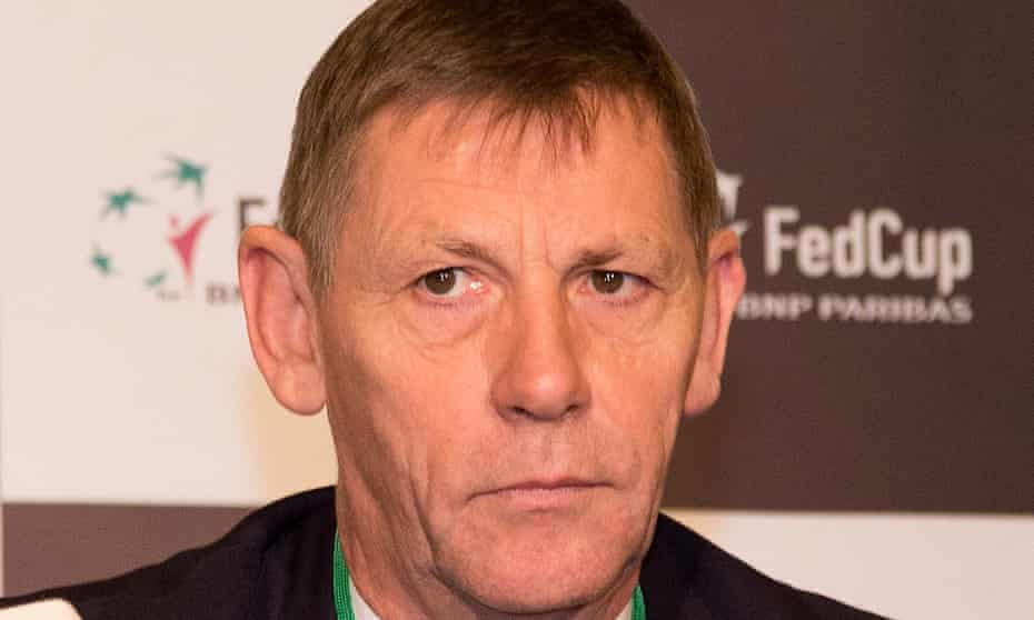 Martin Corrie, the president of the Lawn Tennis Association, has temporarily stepped down while the investigation is conducted