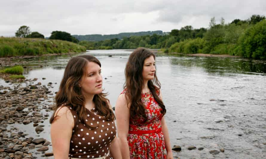 Becky and Rachel Unthanks down by the river Tyne, Corbridge.