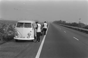 Police check motorists at the roadside