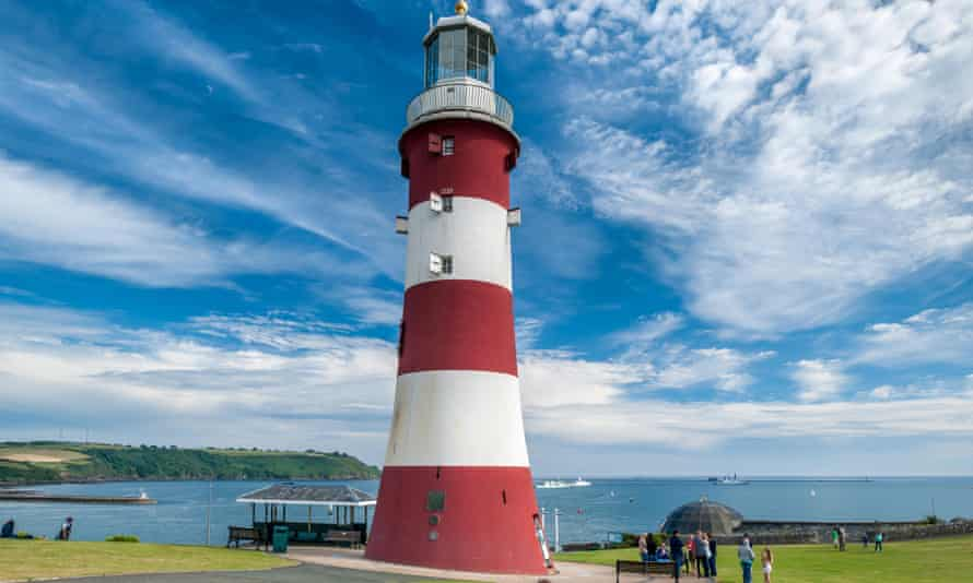 Plymouth Hoe, a historic spot on the south coast of Devon.