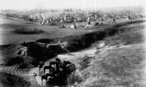 Sioux Village, 1891, Wounded Knee, South Dakota.