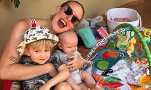 Lyssa Tredgett with her sons Titan and Apollo