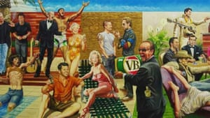 The painting that takes centre stage in the study of Shane Warne's Melbourne home and was widely ridiculed when seen on TV.