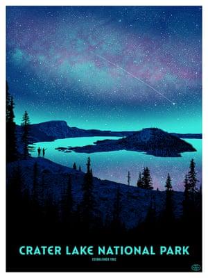 Crater Lake Night by Dan McCarthy