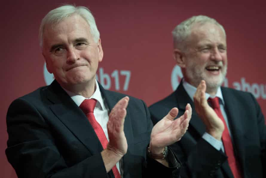 John McDonnell and Jeremy Corbyn at Labour  conference last year.