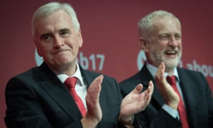 John McDonnell and JeremyCorbyn at the Labour party conference in Brighton last month