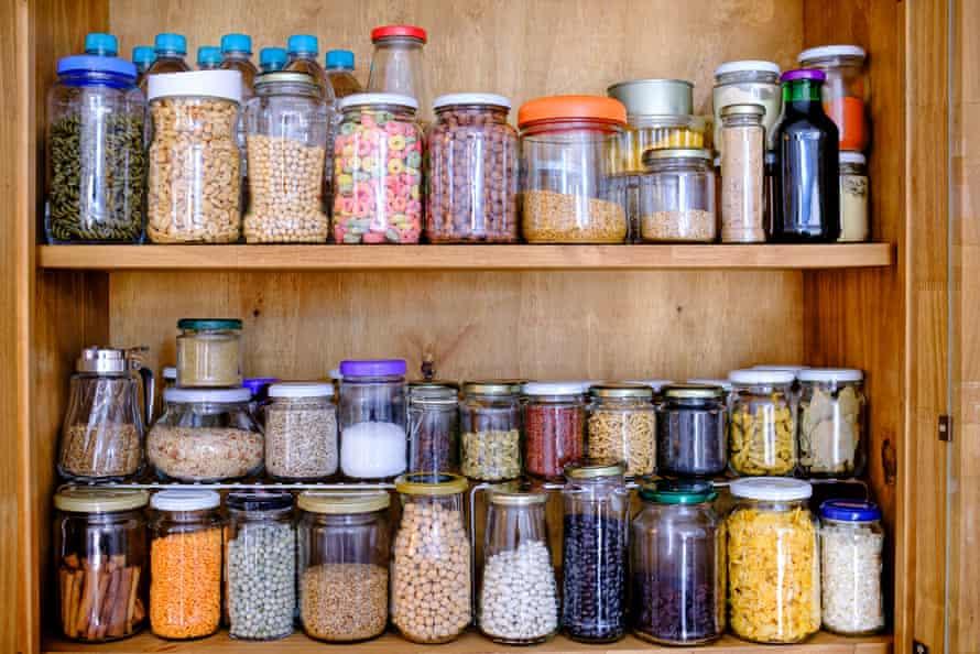 Jars in a pantry